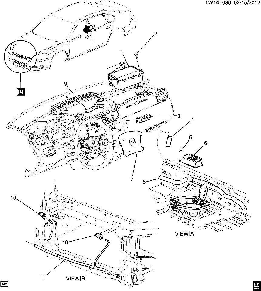 2006-16 Chevy Impala/Limited RH Passenger Airbag New