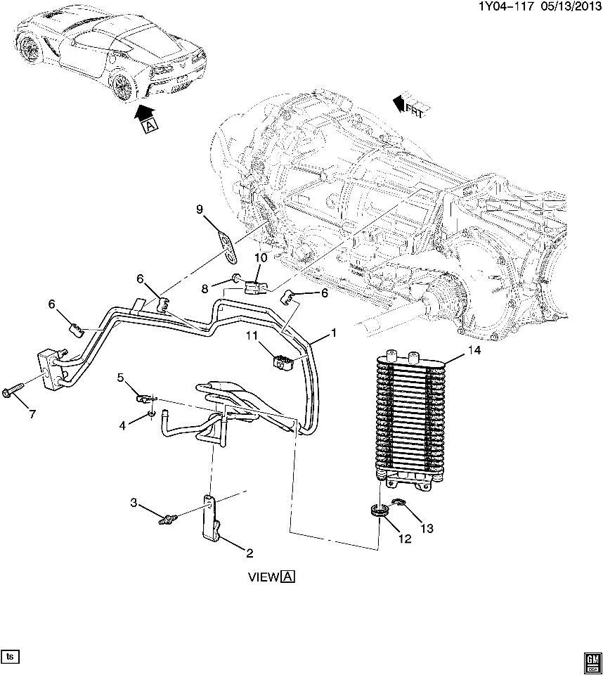 2014 Chevrolet Corvette C7 Automatic Transmission Cooler