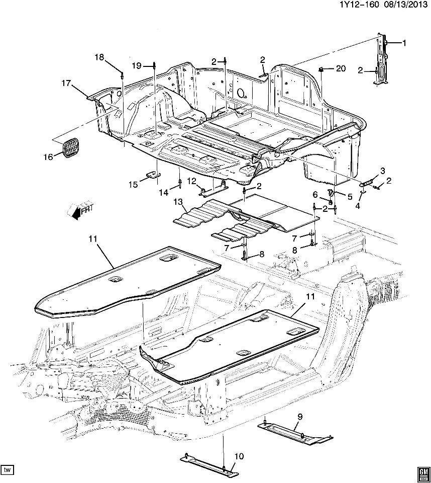 2015 Chevrolet Corvette C7 Stingray Z51 Right Side Floor