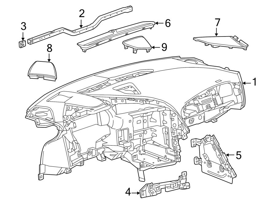 2014-2017 Chevy Corvette C7 Instrument Panel Cross Tie Bar