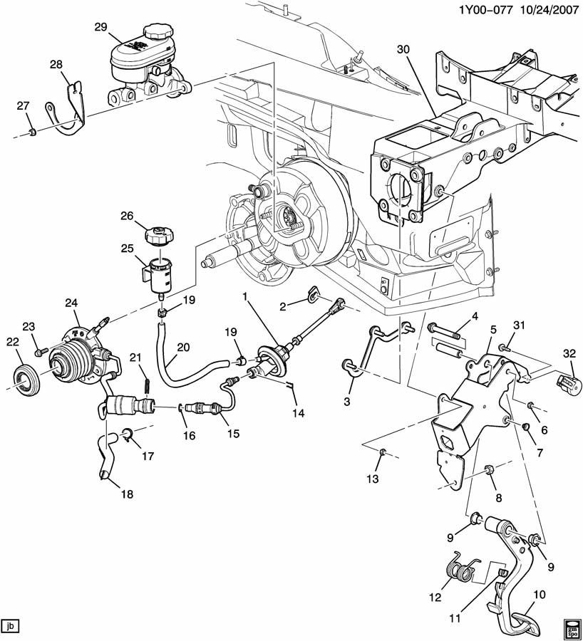 2005-13 Chevy Corvette C6 Hydraulic Clutch Slave Cylinder