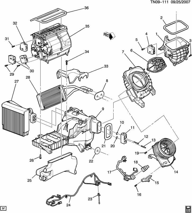 2006-2010 Hummer H3 HVAC Heater Core A/C Complete Box