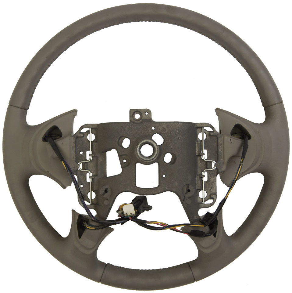 medium resolution of  2004 2005 buick lesabre steering wheel med grey leather new w cruise audio