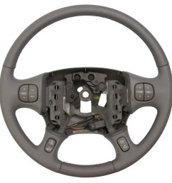 2000 2005 buick lesabre steering wheel med grey leather new w cruise audio temp  [ 971 x 960 Pixel ]
