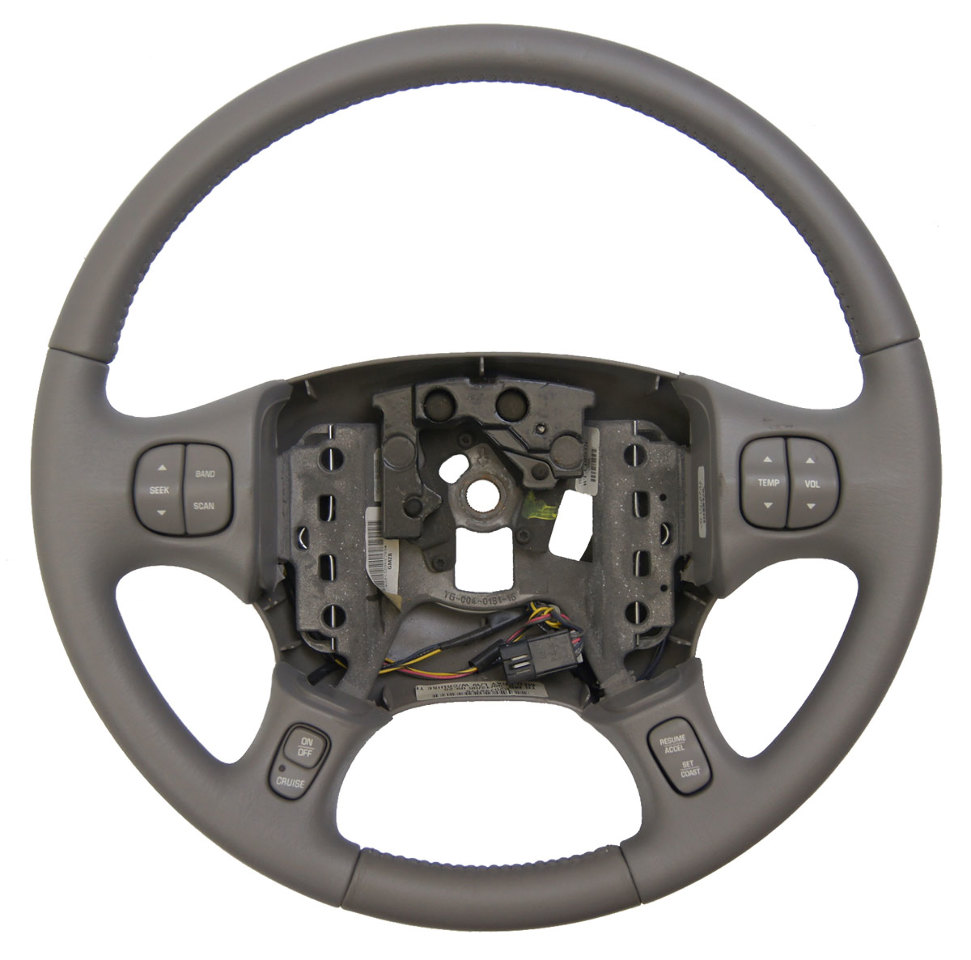 medium resolution of 2000 2005 buick lesabre steering wheel med grey leather new w cruise audio temp
