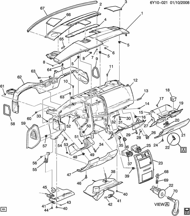 2007 Cadillac Cts Parts Diagram
