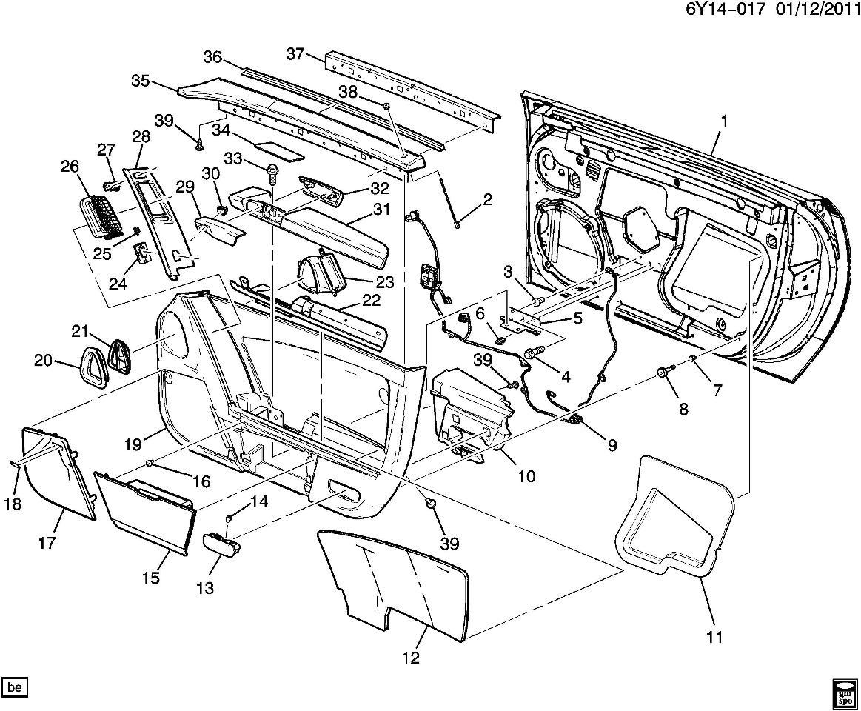 2009 Cadillac XLR Power Window Switch Right RH Door Nickel