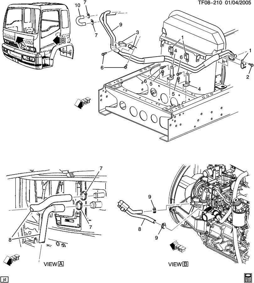 2007-2009 Topkick/Kodiak 7.8L Diesel Heater Hose Inlet