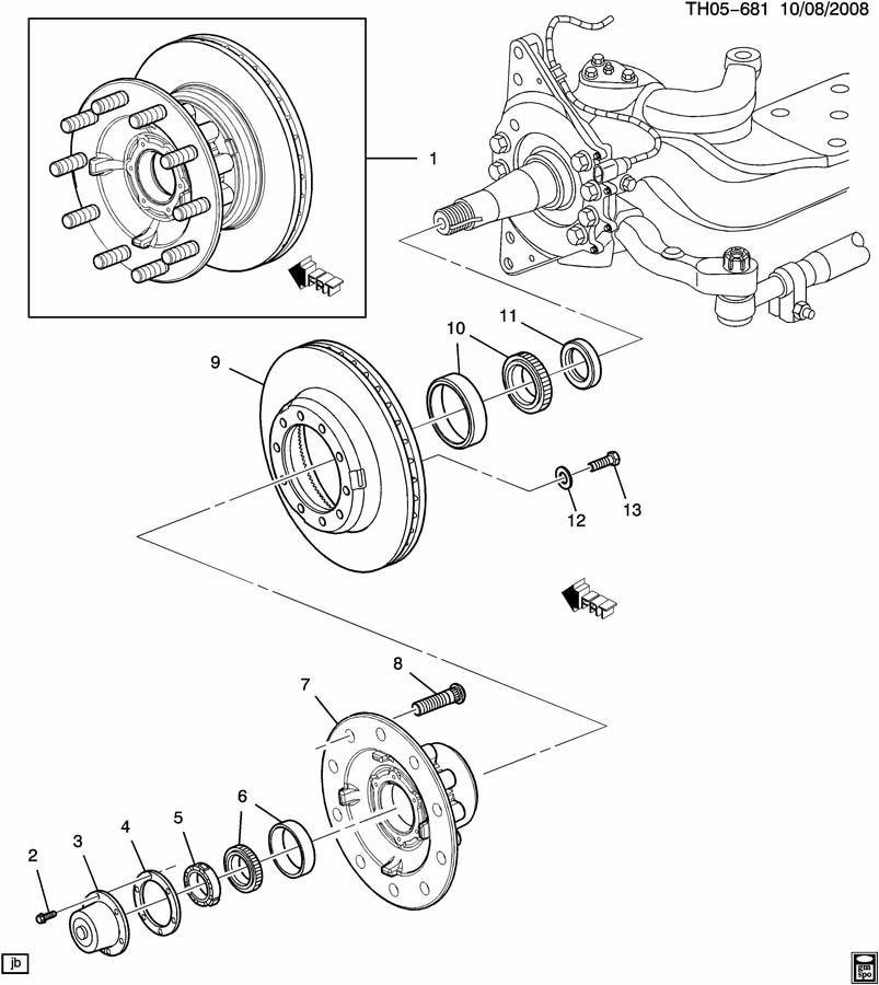 2007-2009 Topkick/Kodiak C6500-C8500 Front Steering