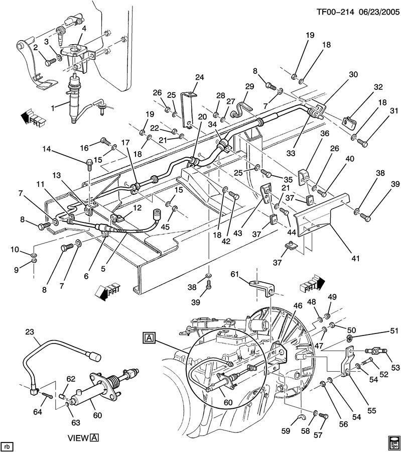 01-09 Topkick/Kodiak/Isuzu T6500-T8500 Hydraulic Clutch