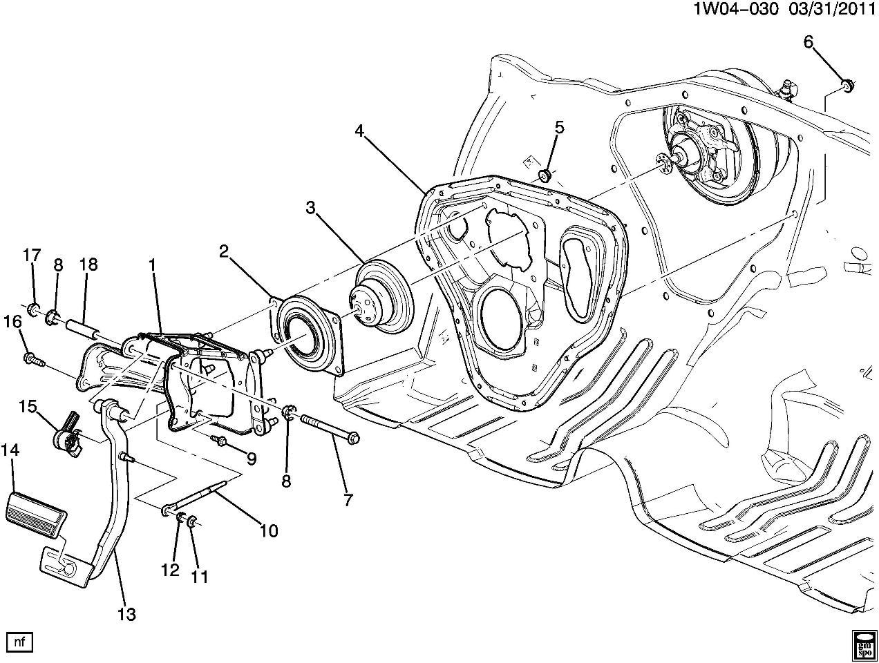 2009-14 Chevy Impala Master Cylinder Push Rod W/Bushing