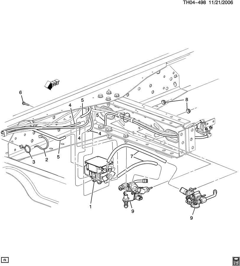 2008-2009 Topkick/Kodiak Bendix Brake Valves Electronic