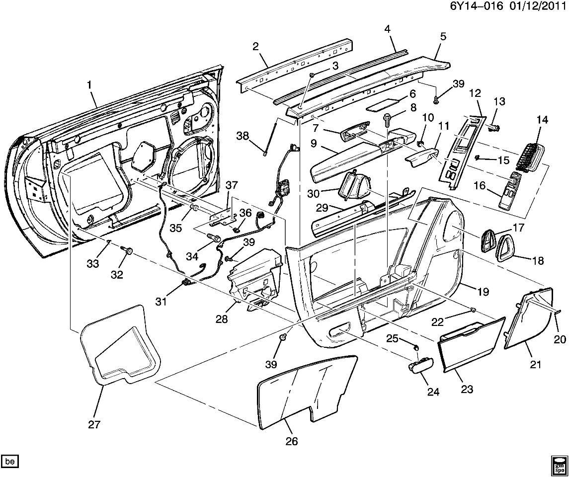 2004-2009 Cadillac XLR Left LH Door Panel Armrest Cashmere