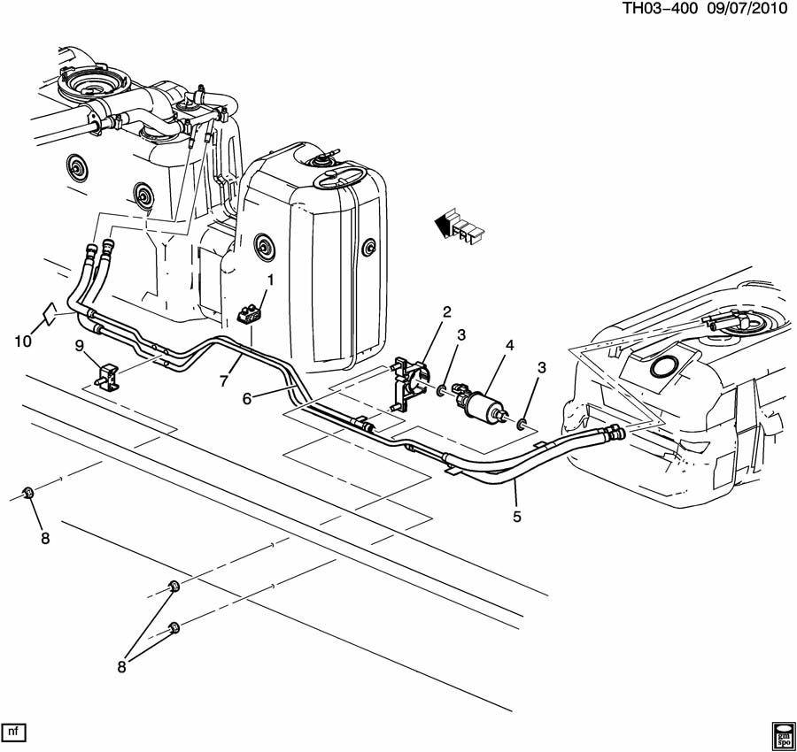 2006-09 GMC C4500 Gas Fuel Lines W/Fuel Pump New OEM