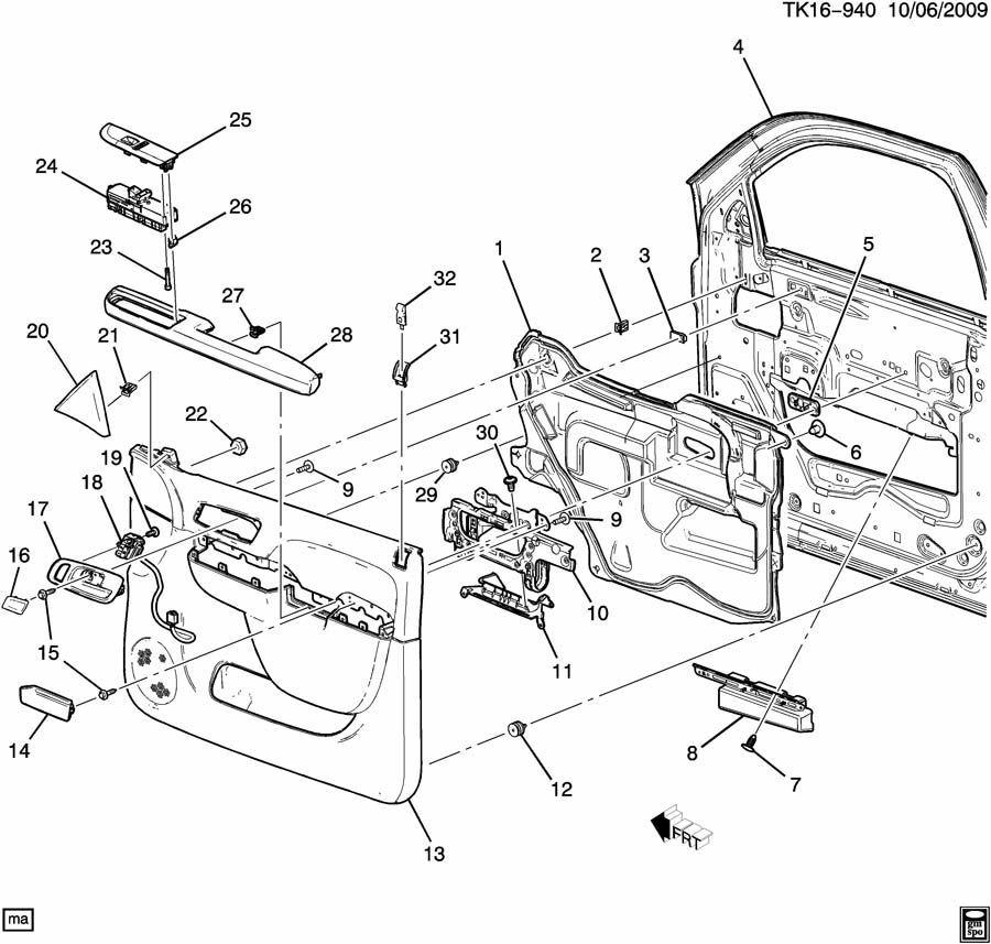 2007-2014 GM Trucks Inside Door Handle Cover New OEM