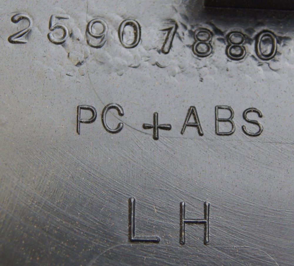 medium resolution of  2008 2009 hummer h2 interior fuse box cover lh ebony black new 25907881 25818887