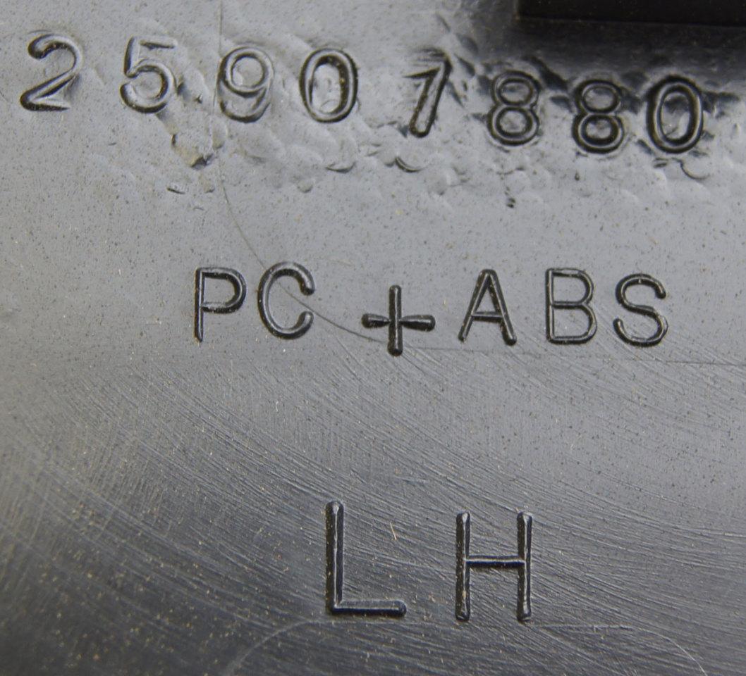 hight resolution of  2008 2009 hummer h2 interior fuse box cover lh ebony black new 25907881 25818887