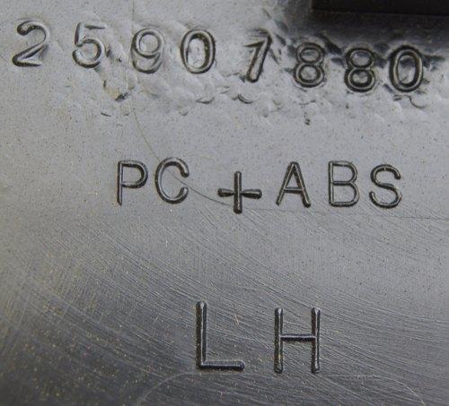 small resolution of  2008 2009 hummer h2 interior fuse box cover lh ebony black new 25907881 25818887