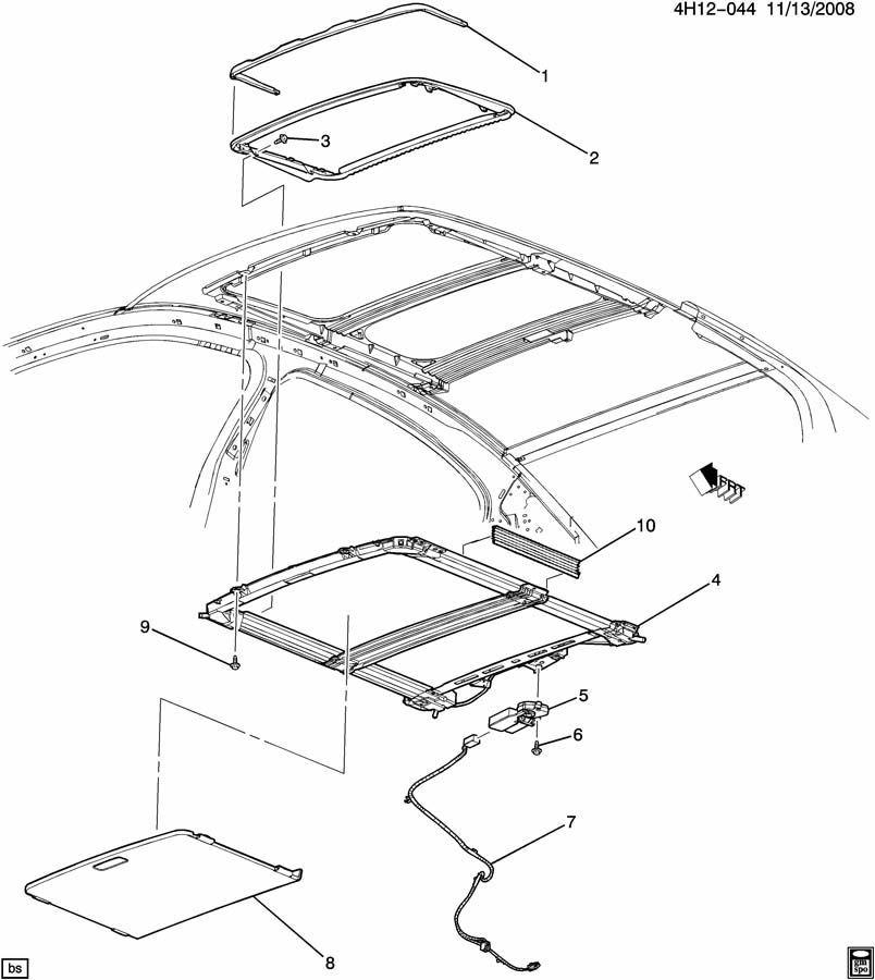 gm roof diagram