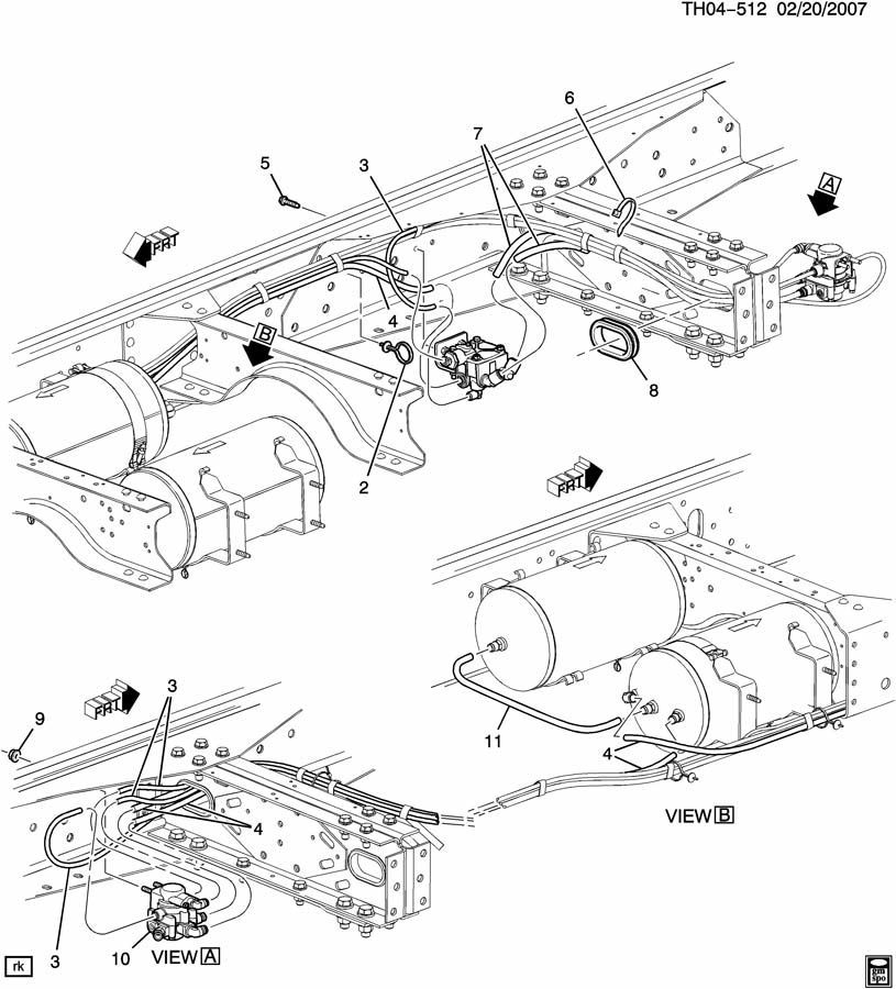 2007-2009 Topkick/Kodiak C8500 Bendix Air Brake Valve New