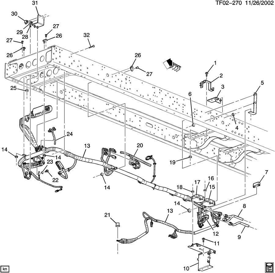 2009 Topkick Kodiak T6500-T7500 Chassis Wiring Harness 7.8