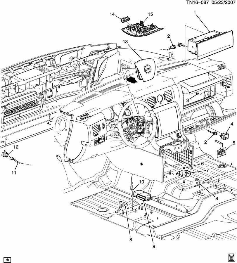 2008-2009 Hummer H2 Rollover Air Bag Airbag Sensor New OEM