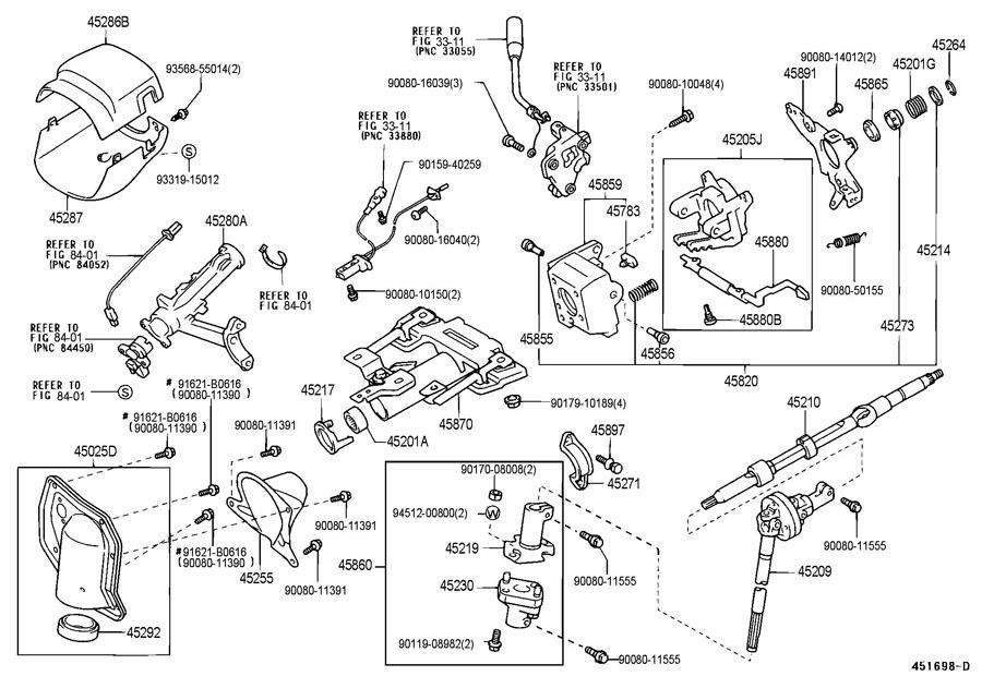 2000-2002 Toyota Tundra Steering Column Upper Trim