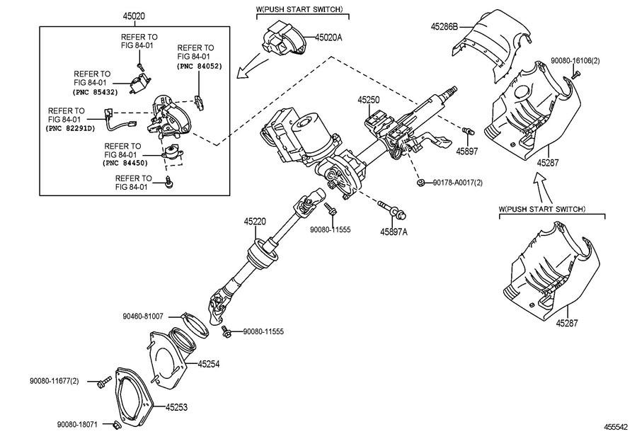 2011-2016 Toyota Sienna Lower Steering Column Trim Black