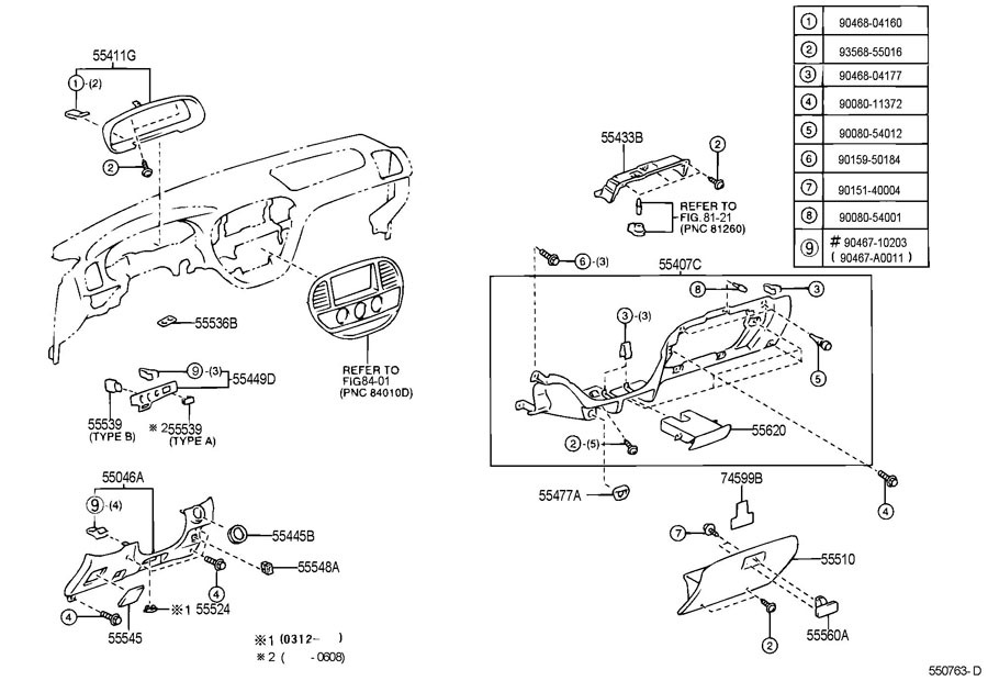 2005-2007 Toyota Sequoia Dash Switch Base Trim New