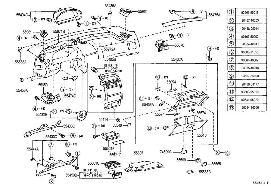 1999-2003 Toyota Solara Dashboard Side Screw Cover Cap