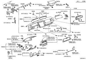 19951998 Toyota Avalon Passenger Airbag Support Clip
