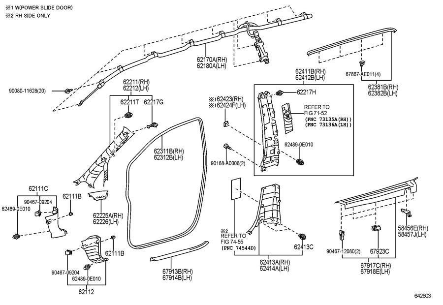 2011-2014 Toyota Sienna Upper Left Center Pillar Trim Tan