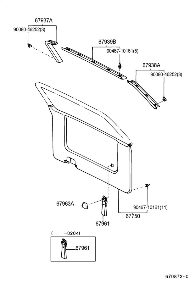 Service manual [2003 Toyota Sienna Roof Trim Removal