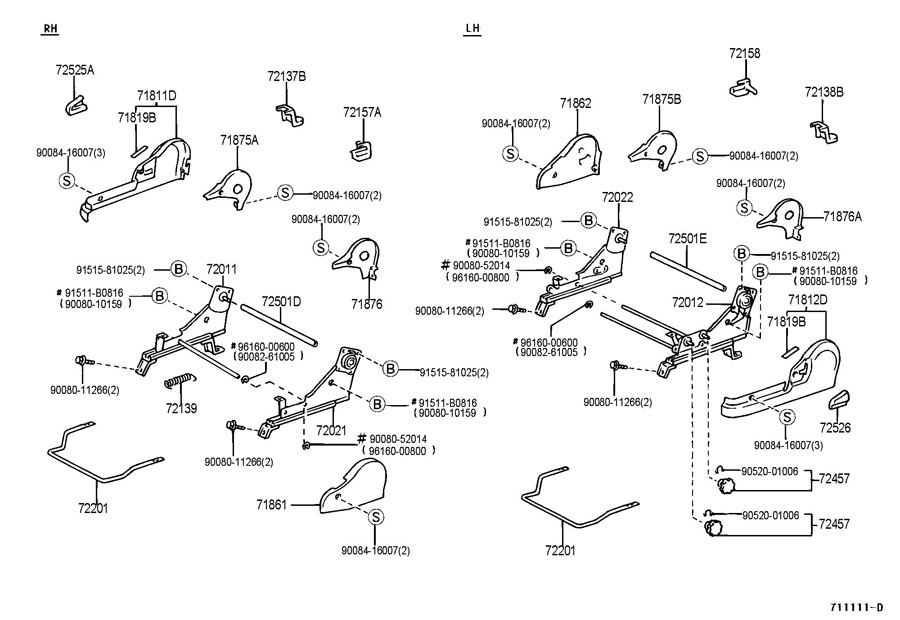 1999-2003 Toyota Solara Driver Seat Manual Adjustment Knob