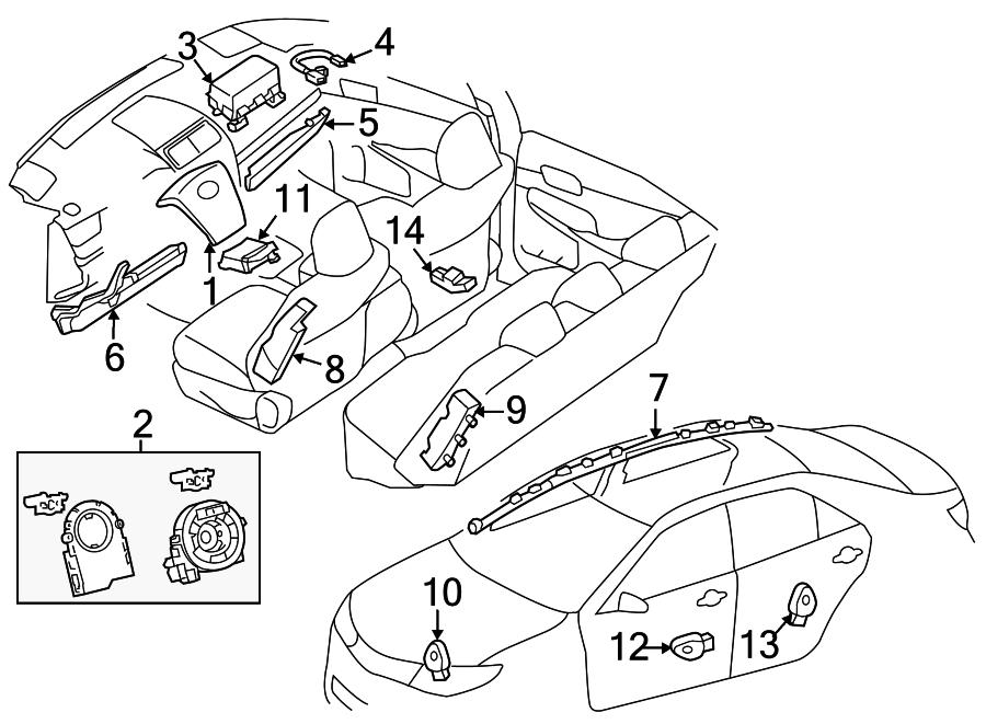 Spendor 2012 Toyota Camry Parts Diagram