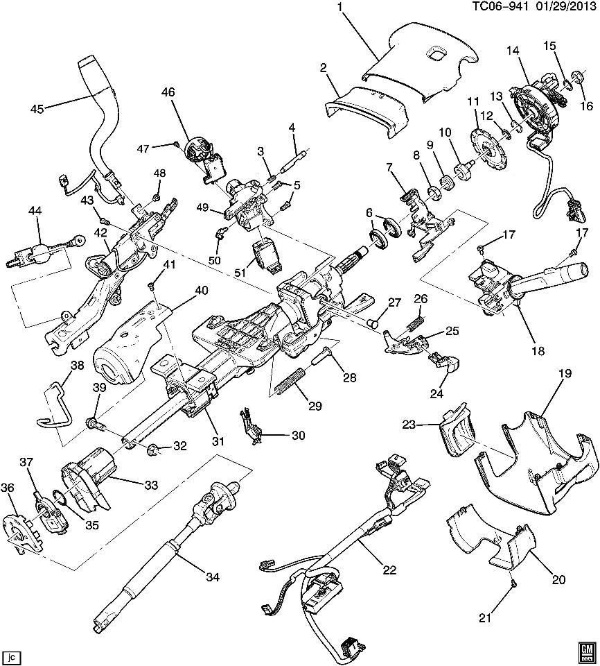 gm steering column wiper wiring