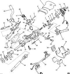 14 15 gm silverado sierra steering column w tilt manual telescope n37 84126496  [ 866 x 960 Pixel ]