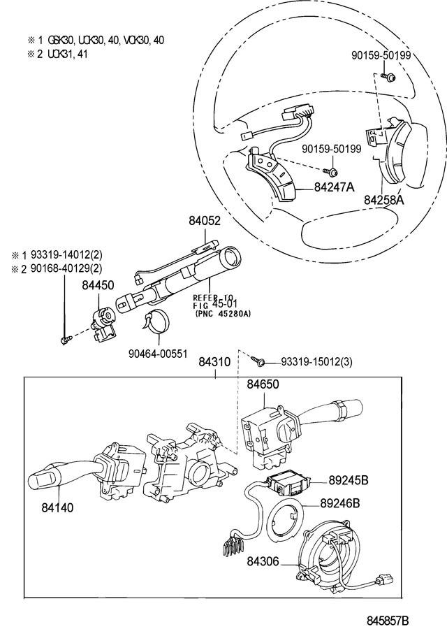 2004-2010 Toyota Sienna LH Steering Wheel Buttons Stone