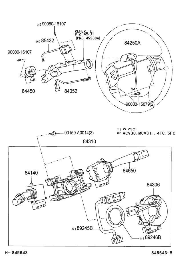 2007-2008 Toyota Solara Steering Wheel Switches New OEM
