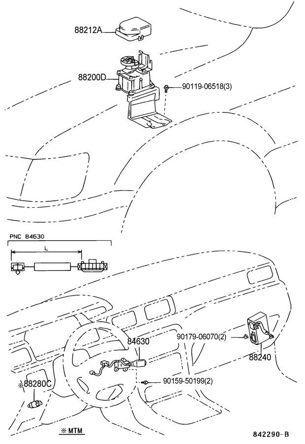 1997-1999 Toyota Camry & Lexus ES300 Cruise Control Stalk