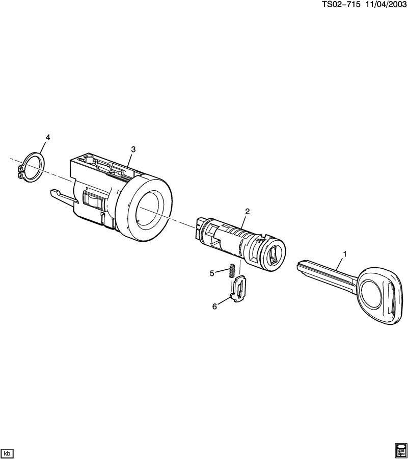 2004-2012 Chevy Colorado Door & Ignition Key Uncut New OEM