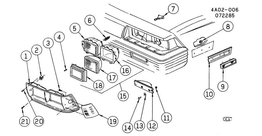 1986-1988 Buick Century Left LH Headlight Bezel Chrome New