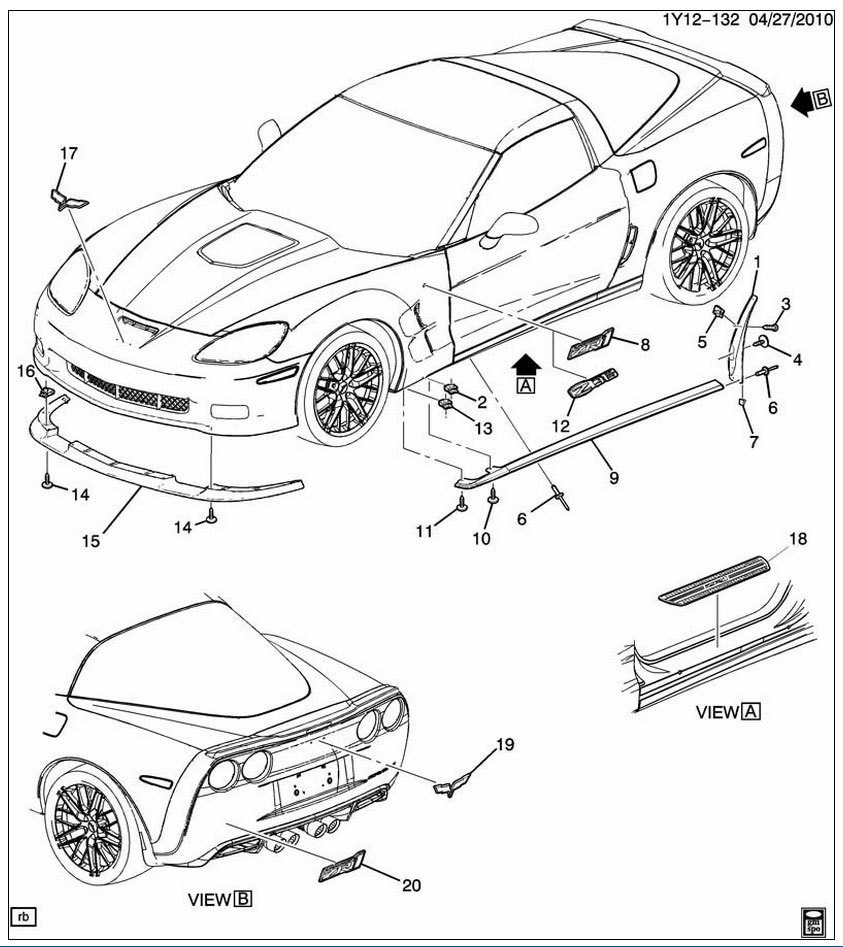 C6 Corvette Parts Diagrams