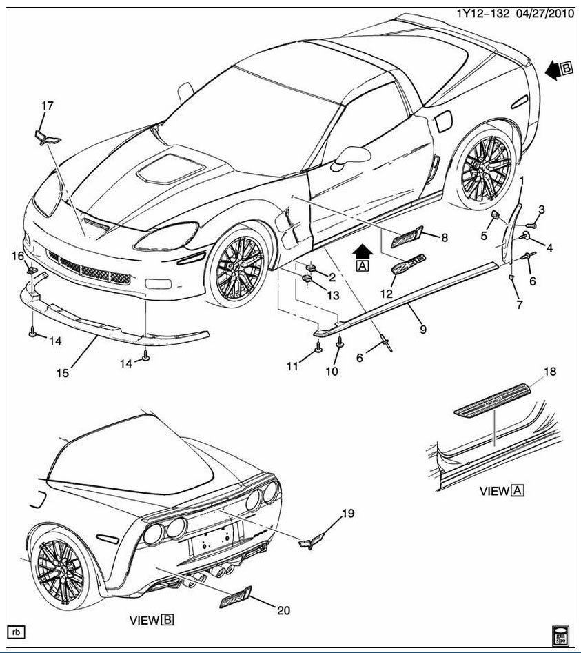 hight resolution of  corvette c6 carbon fiber edition z06 zr1 grand sport rockers skirt pair kit