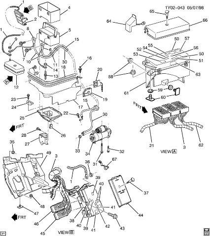 1997-04 Chevy Corvette C5 Positive Battery Cable Fuse