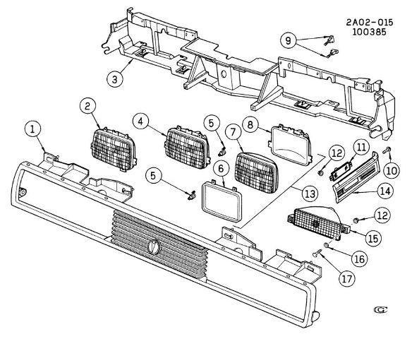 headlight adjustment diagram