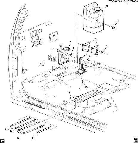 2004-2012 Chevy Colorado GMC Canyon Jack Storage Bolt New