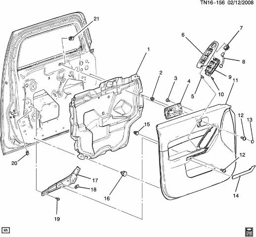 2003 Hummer H2 Sp205 Diagram. Parts. Auto Parts Catalog
