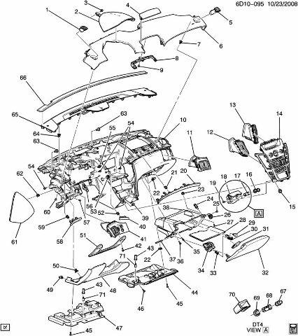 2009-2012 Cadillac CTS Dash Assembly Titanium 25914738