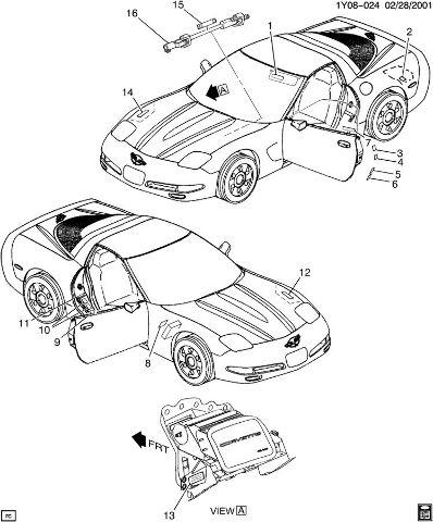 1999-2004 Chevrolet Corvette C5 Intermediate Steering